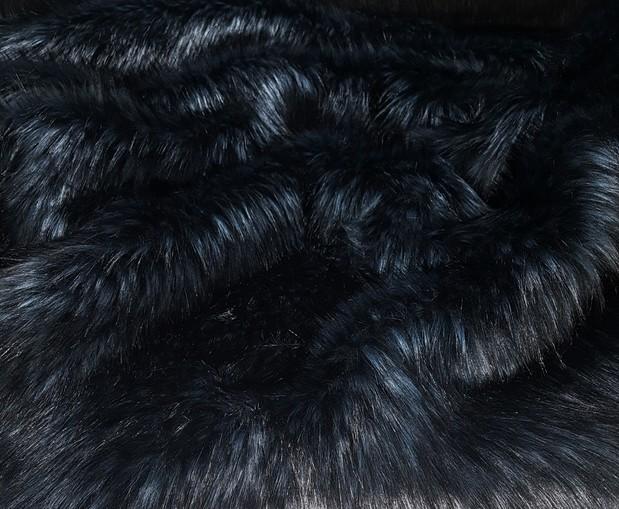 Tundra Wolf Indigo Faux Fur Fabric