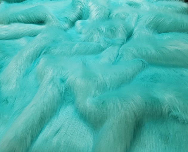 Children's Tissavel Turquoise Faux Fur Capelet