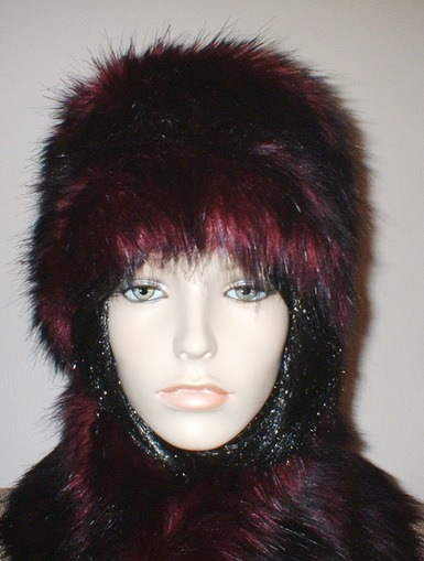 Tuscan Red Faux Fur Russian Style Hat