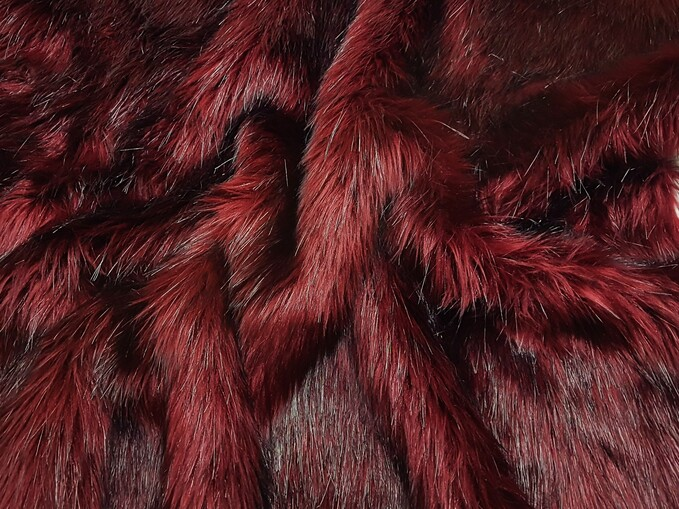 SALE Tuscan Red Faux Fur Throws