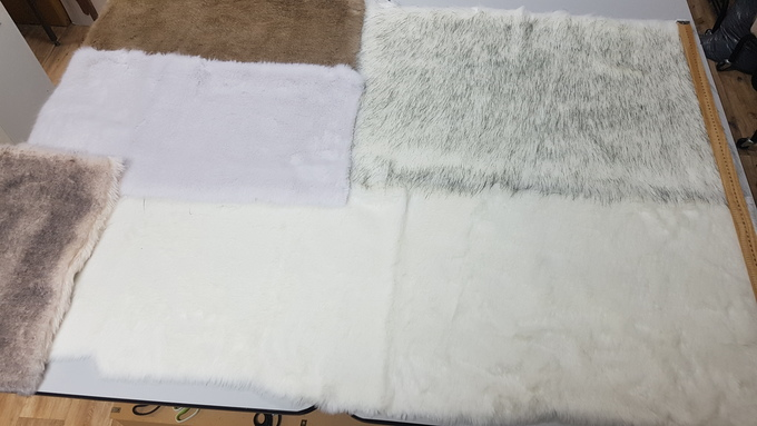 Faux Fur Pieces Per Meter: Whites & Creams