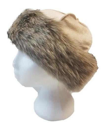 Koala Faux Fur Roller Hat