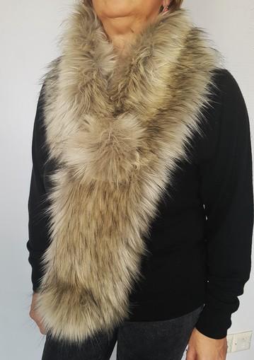 Palomino Double Faux Fur Pom Pom Scarf