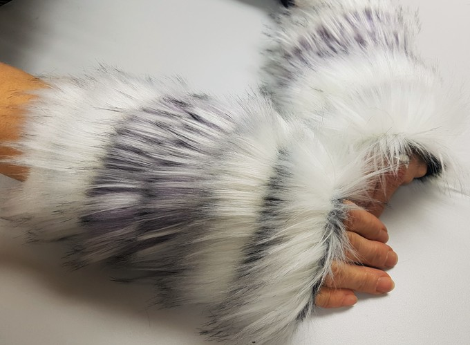 Will O' The Wisp Faux Fur Fingerless Mittens
