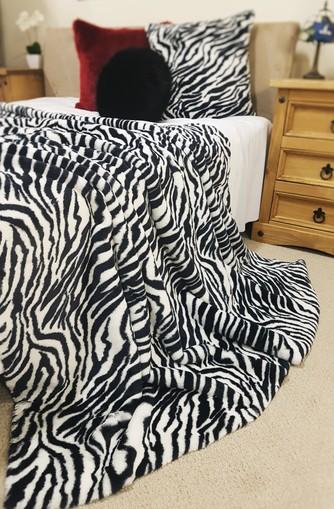 Zebra Faux Fur Throws