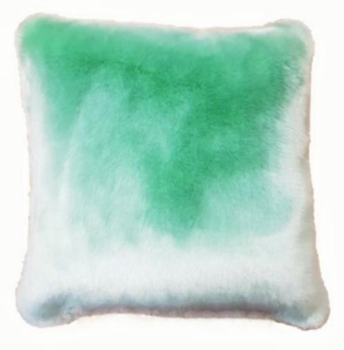 Tissavel Mint Faux Fur Cushions