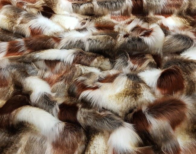 Patchwork Faux Fur Fabric Per Meter Limited Edition