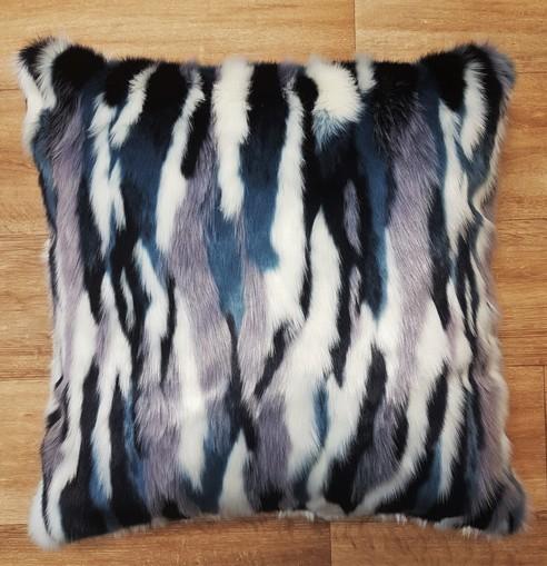 Tissavel Harlequin Faux Fur Cushions