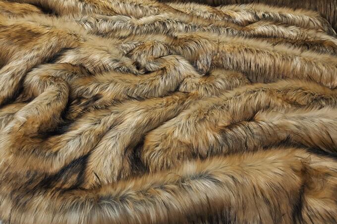 Tissavel Tundra Harvest Gold Faux Fur Fabric