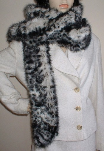 Panther Faux Fur Super Long Scarf