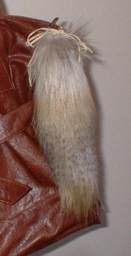 Coyote Faux Fur Tail Handbag Key Charm