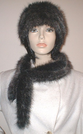 Wolfhound Faux Fur Slim Collar/Headband