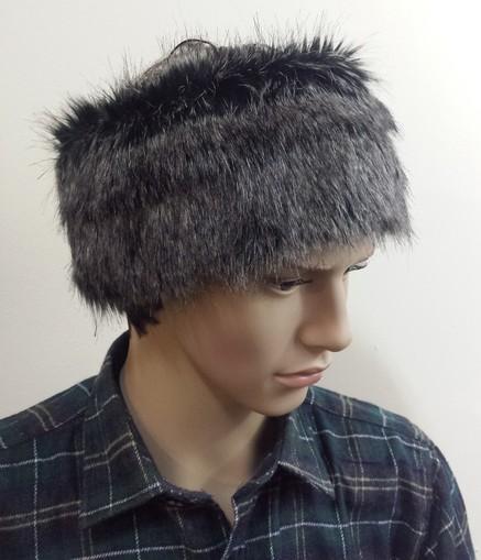 Mens Wolfhound Faux Fur Headband