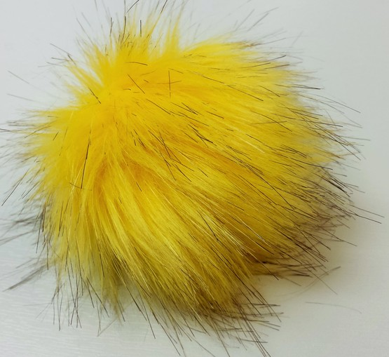 Sunflower Faux Fur Pom Pom
