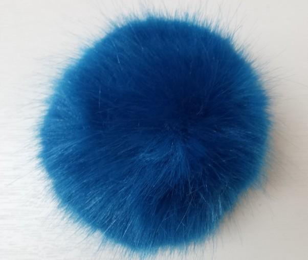 Azure Blue Faux Fur Pom Pom