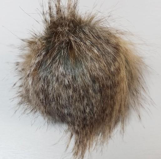 Desert Coyote Faux Fur Pom Pom