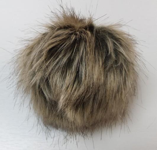 Husky Faux Fur Pom Pom