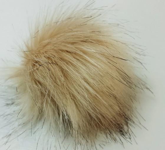 Fawn Musquash Faux Fur Pom Pom