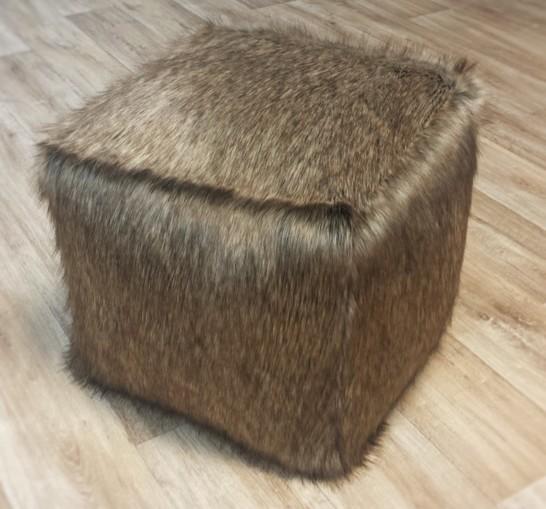 Husky Faux Fur Pouffes