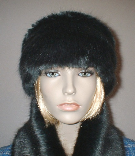 Charcoal Mink Faux Fur Headband
