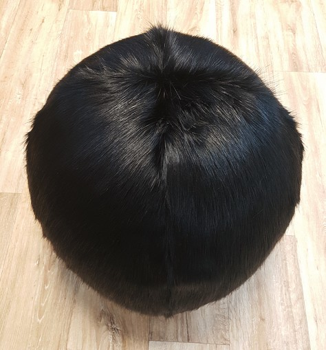 Black Bear Faux Fur Ball