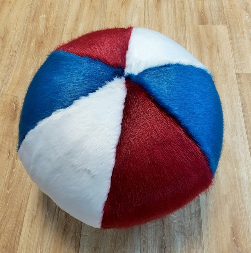 Red, White and Blue Trio Faux Fur Ball