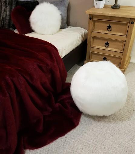 Polar Bear Faux Fur Ball