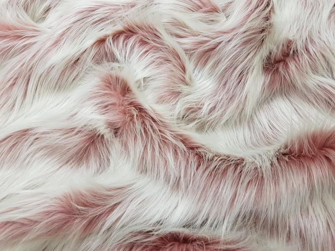 Tissavel Pretty in Pink Faux Fur Fabric Per Meter