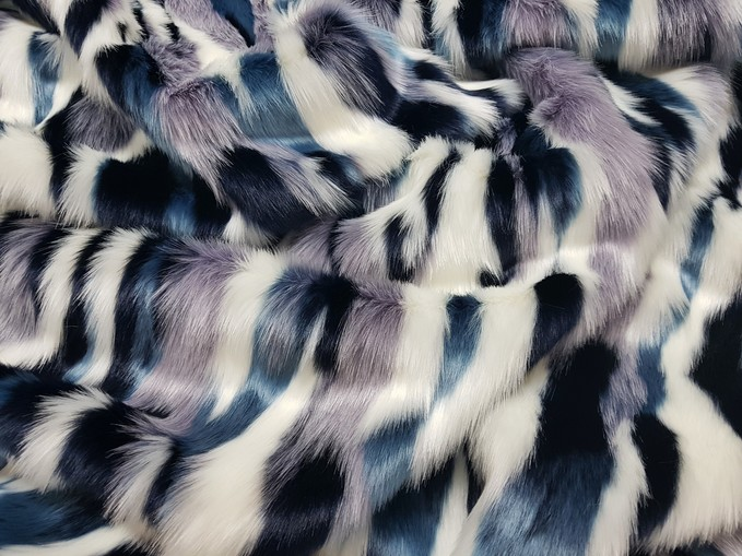 Tissavel Harlequin Faux Fur Fabric Per Meter