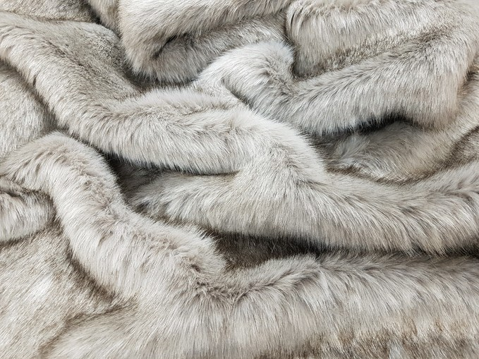 Tissavel Tundra Wolf Grey Faux Fur Swatch