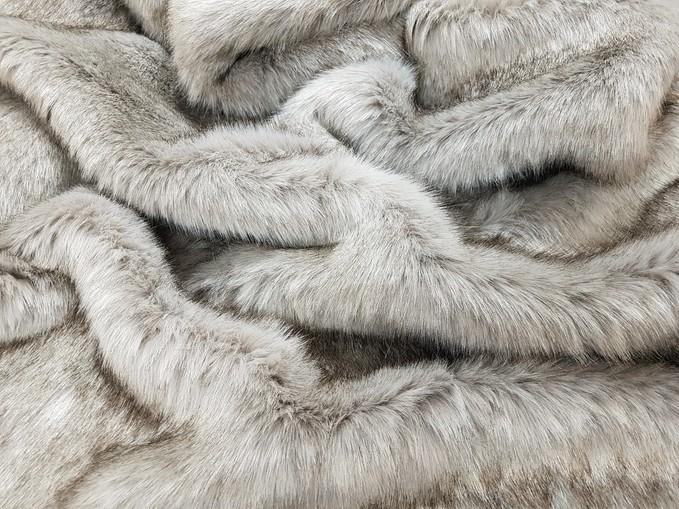 Tissavel Tundra Wolf Grey Faux Fur Per Meter