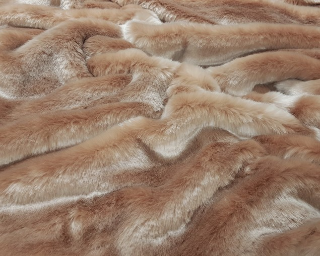 Tissavel Blush Faux Fur Fabric Per Meter