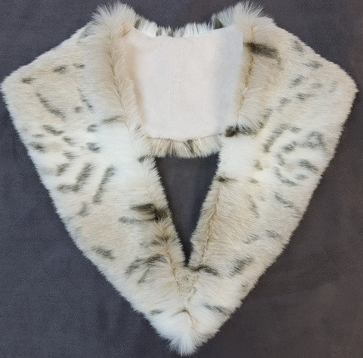 Snow Lynx Faux Fur Lapel Collar