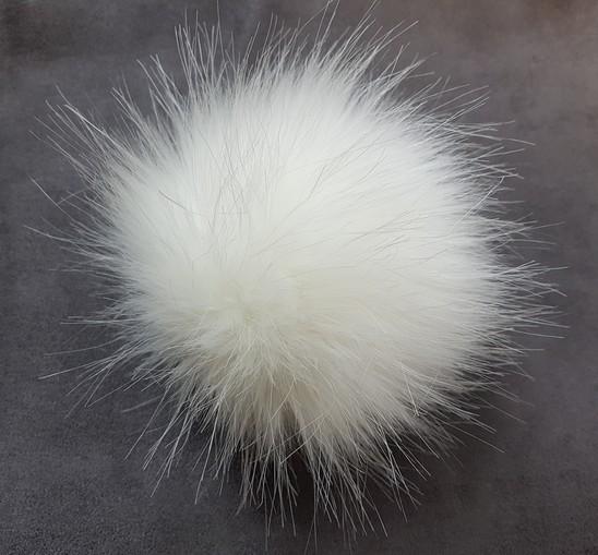 Polar Bear Faux Fur Pom Pom