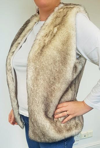 Polar Fox Faux Fur Gilet Size 14