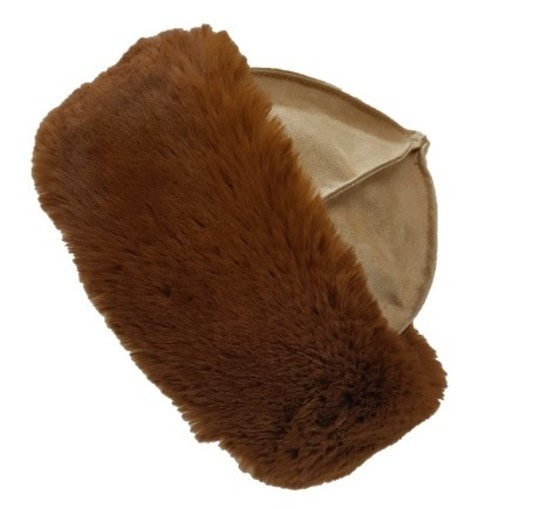Autumn Leaves Faux Fur Roller Hat