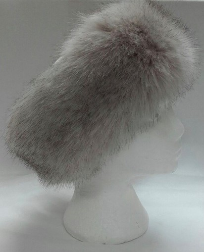 Tissavel Tundra Wolf Cream Faux Fur Headband