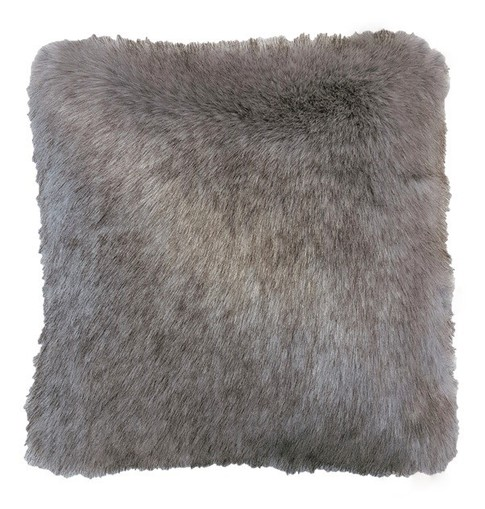 Tissavel Tundra Wolf Grey Faux Fur Cushions