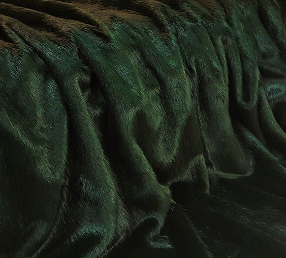 Hunter Green Faux Fur Trims