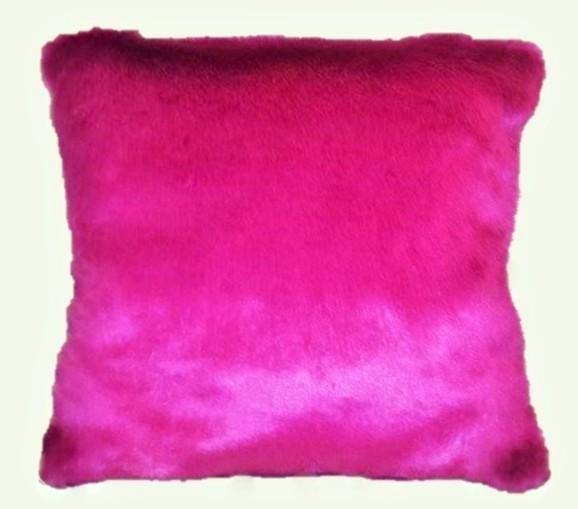 Hot Pink Mink Faux Fur Cushions