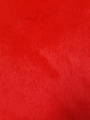 Red Fun Faux Fur Swatch