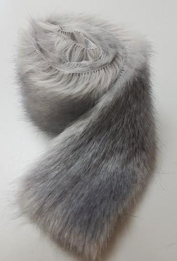 Silver Mink Faux Fur Trim