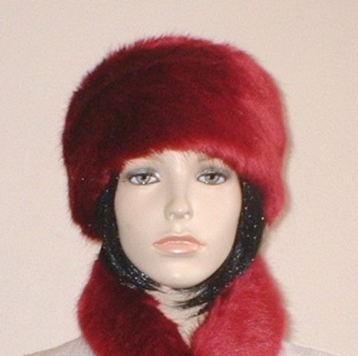 Ruby Red Faux Fur Hat