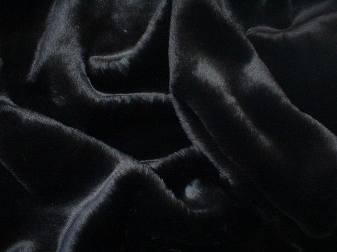 Black Mink Faux Fur Swatch