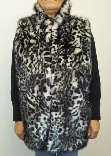 Panther Faux Fur Long Gilet