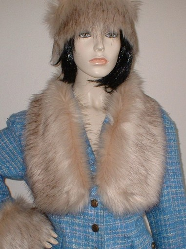 Fawn Musquash Faux Fur Neck Scarf