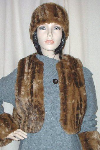 Vintage Gold Astra Faux Fur Bolero Waistcoat
