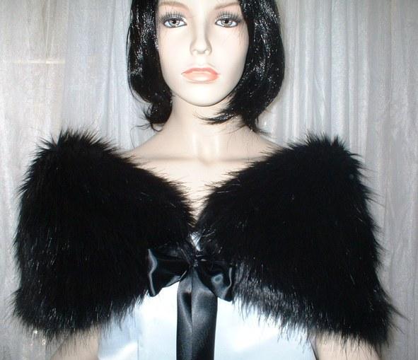 Black Bear Faux Fur Wrap