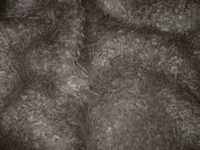 Mongolian Taupe Brown Faux Fur Swatch