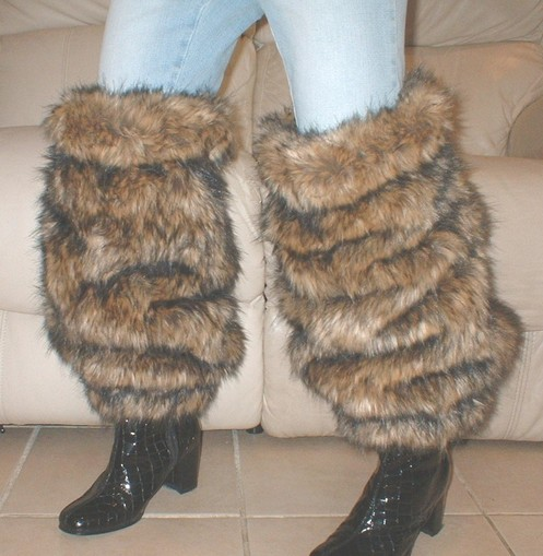 Simba Faux Fur Leg Warmers